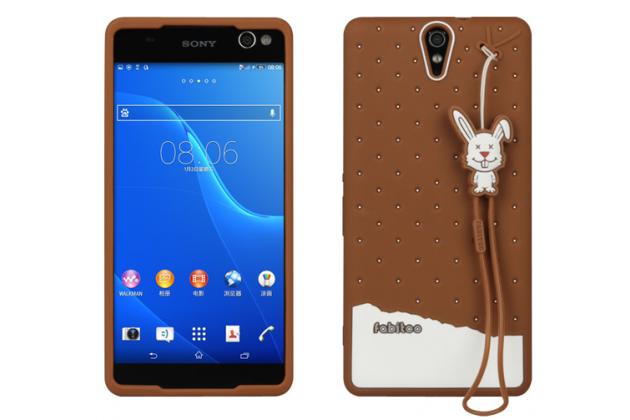 """Фирменная необычная уникальная полимерная мягкая задняя панель-чехол-накладка для Sony Xperia C5 Ultra / C5 Ultra Dual E5533 E5563/ T4 Ultra 6.0""""  """"тематика Андроид в тёмном Шоколаде"""""""