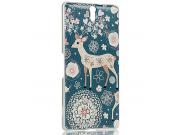 Фирменная роскошная задняя панель-чехол-накладка с безумно красивым расписным узором на Sony Xperia C5 Ultra /..