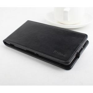 """Фирменный оригинальный вертикальный откидной чехол-флип для Sony Xperia C5 Ultra / C5 Ultra Dual E5533 E5563/ T4 Ultra 6.0"""" черный кожаный"""