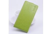 """Фирменный оригинальный вертикальный откидной чехол-флип для Sony Xperia C5 Ultra / C5 Ultra Dual E5533 E5563/ T4 Ultra 6.0"""" зеленый кожаный """"Prestige"""" Италия"""
