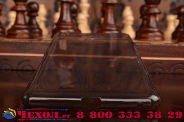 """Фирменная ультра-тонкая полимерная из мягкого качественного силикона задняя панель-чехол-накладка для Sony Xperia C5 Ultra / C5 Ultra Dual E5533 E5563/ T4 Ultra 6.0""""  черная"""