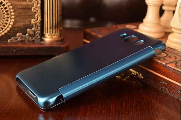 """Чехол-книжка с дизайном """"Clear View Cover""""  для Samsung Galaxy J7 2016 SM-J710x/ J710F 5.5""""  синий"""