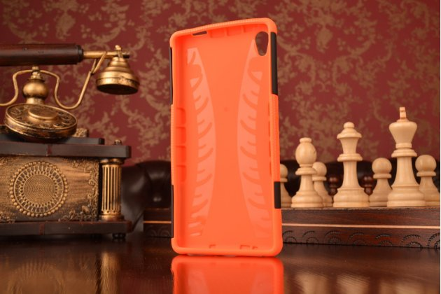 """Противоударный усиленный ударопрочный фирменный чехол-бампер-пенал для Sony Xperia C6 / C6 Ultra / XA Ultra 6.0"""" (F3212 /F3216) оранжевый"""