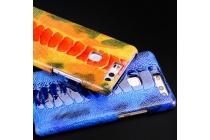 """Фирменная роскошная эксклюзивная накладка из натуральной КОЖИ С НОГИ СТРАУСА синяя  для Sony Xperia C6 / C6 Ultra / XA Ultra 6.0"""" (F3212 /F3216). Только в нашем магазине. Количество ограничено"""