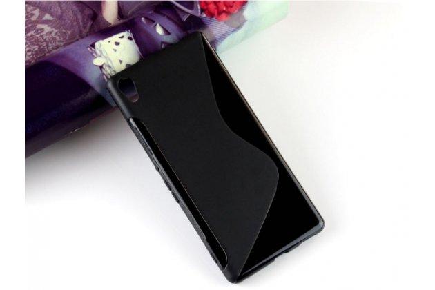 """Фирменная ультра-тонкая полимерная из мягкого качественного силикона задняя панель-чехол-накладка для Sony Xperia C6 / C6 Ultra / XA Ultra 6.0"""" (F3212 /F3216) черная"""