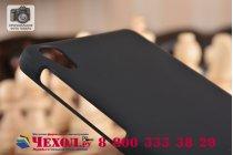 Фирменная задняя панель-крышка-накладка из тончайшего и прочного пластика для Sony Xperia E5 черная