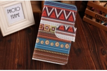 """Фирменный уникальный необычный чехол-книжка для Sony Xperia L (C2105) """"тематика Эклектические узоры"""""""