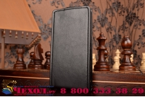 """Фирменный оригинальный вертикальный откидной чехол-флип для Sony Xperia M2 Aqua D2403 (S50h) черный из натуральной кожи """"Prestige"""" Италия"""