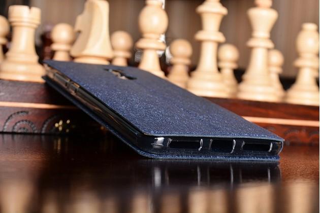 Фирменный чехол-книжка водоотталкивающий с мульти-подставкой на жёсткой металлической основе для Xiaomi Redmi Note 4 5.5 синий