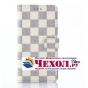 Фирменный уникальный необычный чехол-книжка для Sony Xperia M4 Aqua/Aqua Dual E2303/E2306/E2312/E2333  белый в..