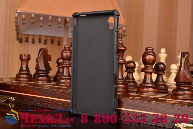 Противоударный усиленный грязестойкий фирменный чехол-бампер-пенал для Sony Xperia M4 Aqua/Aqua Dual E2303/E2306/E2312/E2333 черный