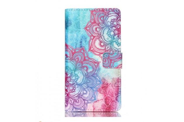 Фирменный уникальный необычный чехол-книжка для Sony M4 Aqua тематика  Цветок
