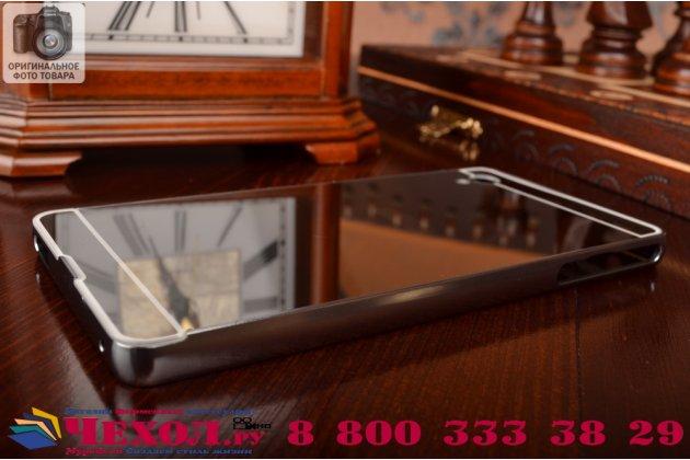 Фирменная металлическая задняя панель-крышка-накладка из тончайшего облегченного авиационного алюминия для Sony Xperia M4 Aqua/Aqua Dual серебристая