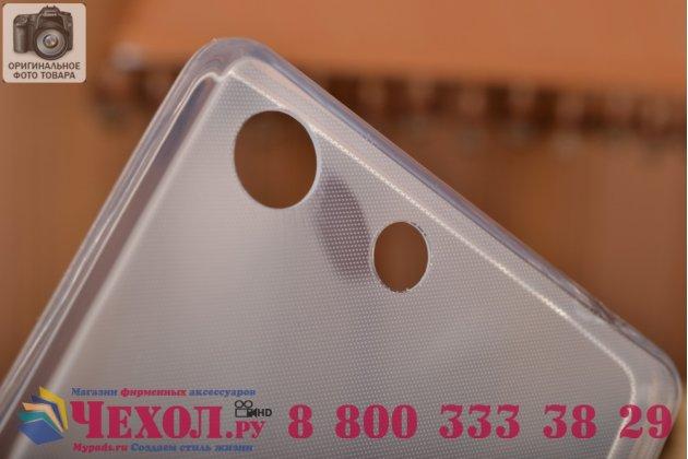 Фирменная ультра-тонкая полимерная из мягкого качественного силикона задняя панель-чехол-накладка для Sony Xperia M5 E5603/ M5 Dual E5633 белая