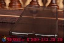 Фирменная ультра-тонкая полимерная из мягкого качественного силикона задняя панель-чехол-накладка для Sony Xperia M5 E5603/ M5 Dual E5633  черная