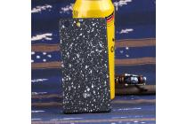 """Фирменная необычная элитная пластиковая задняя панель-накладка для Sony Xperia M5 E5603/ M5 Dual E5633 тематика """"Космос"""" черная"""