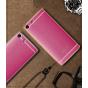 Фирменная премиальная элитная крышка-накладка на Sony Xperia M5 E5603/ M5 Dual E5633 розовая из качественного ..