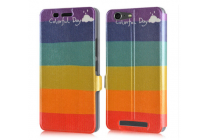 """Фирменный уникальный необычный чехол-книжка для Sony Xperia M5 E5603/ M5 Dual E5633  """"тематика все цвета радуги"""""""