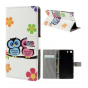 Фирменный уникальный необычный чехол-книжка для Sony Xperia M5 E5603/ M5 Dual E5633
