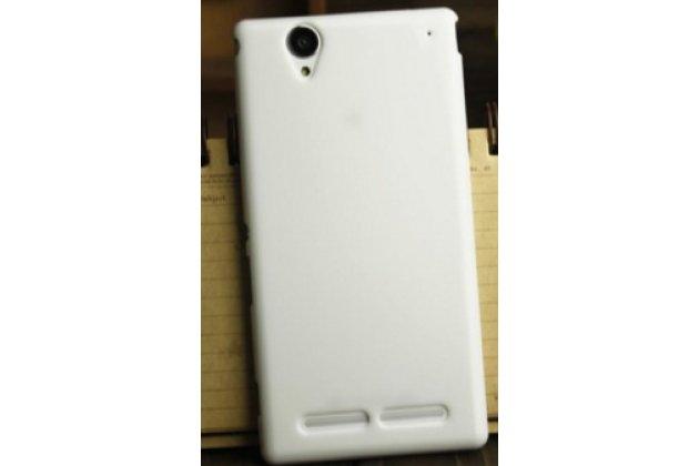 Фирменная ультра-тонкая полимерная из мягкого качественного силикона задняя панель-чехол-накладка для Sony Xperia T2 Ultra/ T2 Ultra Dual D5303/D5322 белая