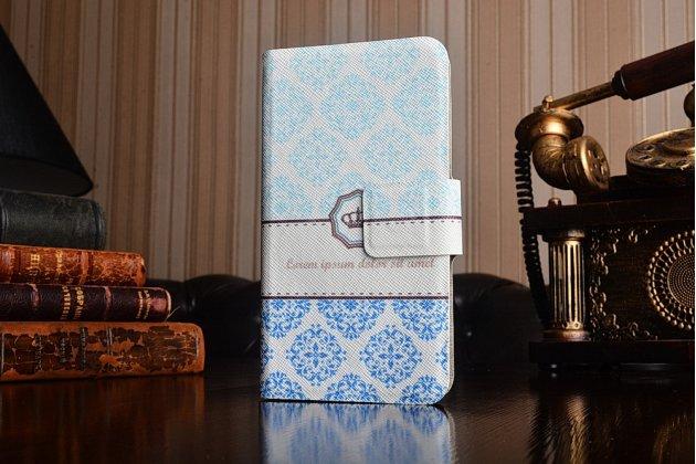 """Фирменный необычный чехол-книжка для Sony Xperia V (LT25i) """"тематика Королевские Узоры"""""""
