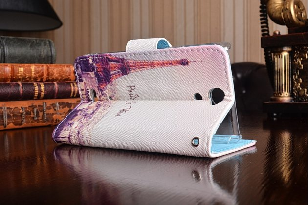 """Фирменный уникальный необычный чехол-книжка для Sony Xperia V (LT25i) """"тематика Франция"""""""