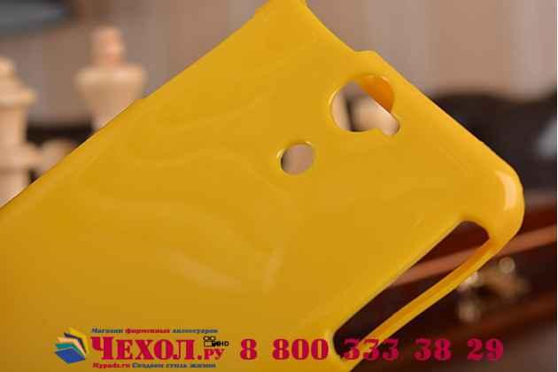 Фирменная ультра-тонкая полимерная из мягкого качественного силикона задняя панель-чехол-накладка для Sony Xperia V (LT25i) желтая