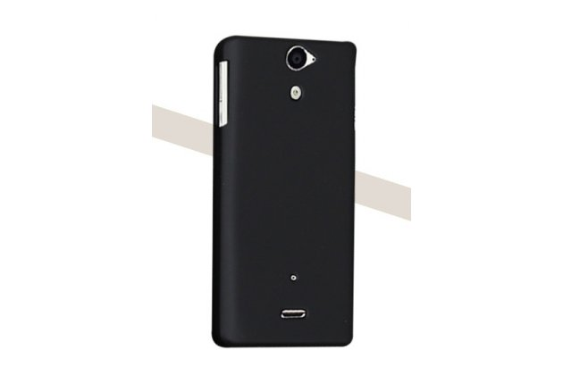 Фирменная задняя панель-крышка-накладка из тончайшего и прочного пластика для Sony Xperia V (LT25i) черная
