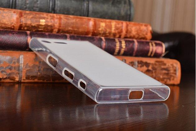 """Фирменная ультра-тонкая силиконовая задняя панель-чехол-накладка для Sony Xperia X Compact 4.6"""" ( F5321/  F5321RU) белая"""