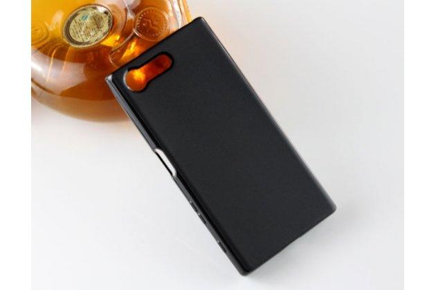 """Фирменная ультра-тонкая силиконовая задняя панель-чехол-накладка для Sony Xperia X Compact 4.6"""" ( F5321/  F5321RU) черная"""