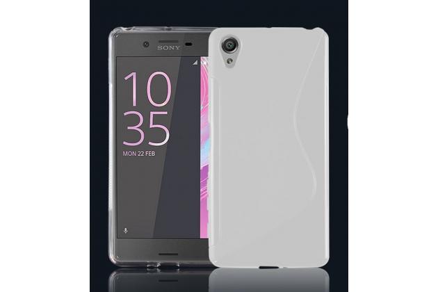 """Фирменная ультра-тонкая полимерная из мягкого качественного силикона задняя панель-чехол-накладка для Sony Xperia X Performance/ X Performance Dual 5.0"""" (F8131/ F8132) белая"""