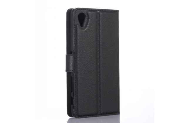 """Фирменный чехол-книжка для  Sony Xperia X Performance/ X Performance Dual 5.0"""" (F8131/ F8132)  с визитницей и мультиподставкой черный кожаный"""