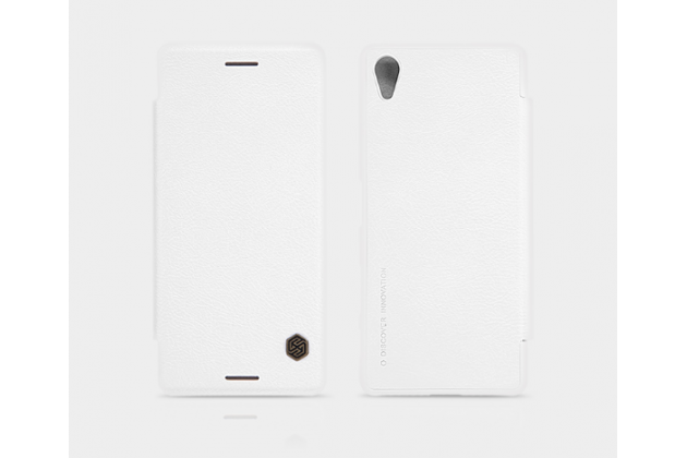 """Фирменный премиальный элитный чехол-книжка из качественной импортной кожи с мульти-подставкой и визитницей для Sony Xperia X Performance/ X Performance Dual 5.0"""" (F8131/ F8132) """"Ретро"""" белый"""
