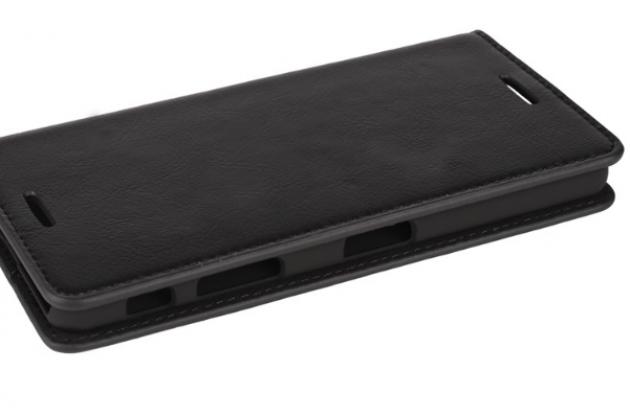 """Фирменный премиальный элитный чехол-книжка из качественной импортной кожи с мульти-подставкой и визитницей для Sony Xperia X Performance/ X Performance Dual 5.0"""" (F8131/ F8132) """"Ретро"""" черный"""