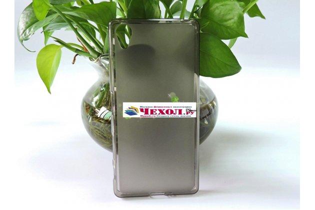 """Фирменная ультра-тонкая полимерная из мягкого качественного силикона задняя панель-чехол-накладка для Sony Xperia X / X Dual 5.0"""" (F5121 / F5122) серая"""