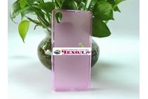 """Фирменная ультра-тонкая полимерная из мягкого качественного силикона задняя панель-чехол-накладка для Sony Xperia X / X Dual 5.0"""" (F5121 / F5122) розовая"""