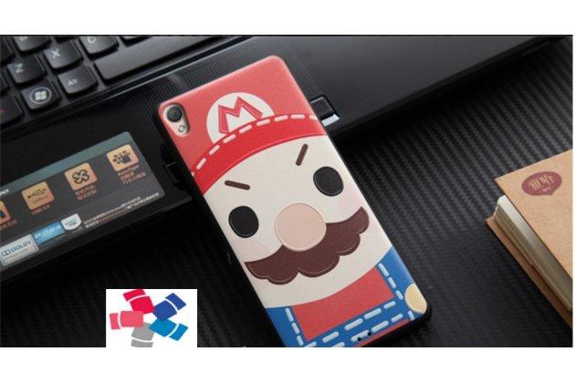 """Фирменная уникальная задняя панель-крышка-накладка из тончайшего силикона для Sony Xperia XA / XA Dual 5.0"""" (F3113/ F3112 / F3115 /E6533)  с объёмным 3D рисунком """"тематика Марио"""""""