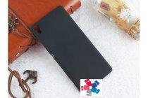 """Фирменная задняя панель-крышка-накладка из тончайшего и прочного пластика для Sony Xperia XA / XA Dual 5.0"""" (F3113/ F3112 / F3115 /E6533) черная"""