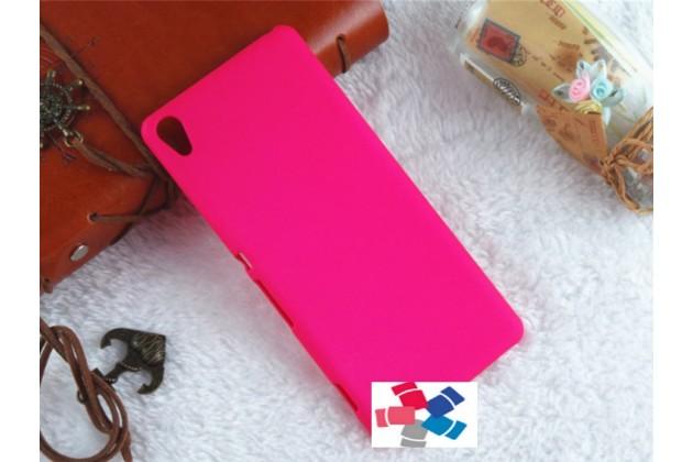 "Фирменная задняя панель-крышка-накладка из тончайшего и прочного пластика для Sony Xperia XA / XA Dual 5.0"" (F3113/ F3112 / F3115 /E6533) розовая"