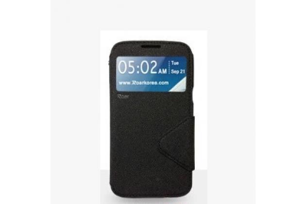 """Фирменный  чехол-книжка для Sony Xperia XA / XA Dual 5.0"""" (F3113/ F3112 / F3115 /E6533) черный  с окошком для входящих вызовов водоотталкивающий"""