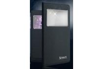 """Фирменный оригинальный чехол-книжка для Sony Xperia XA / XA Dual 5.0"""" (F3113/ F3112 / F3115 /E6533) черный с окошком для входящих вызовов водоотталкивающий"""