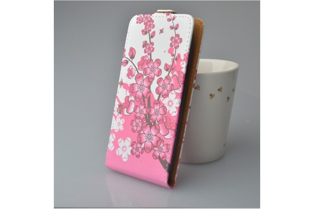 "Фирменный уникальный необычный чехол-флип для  Sony Xperia XA / XA Dual 5.0"" (F3113/ F3112 / F3115 /E6533) ""тематика цветок Сакуры"""