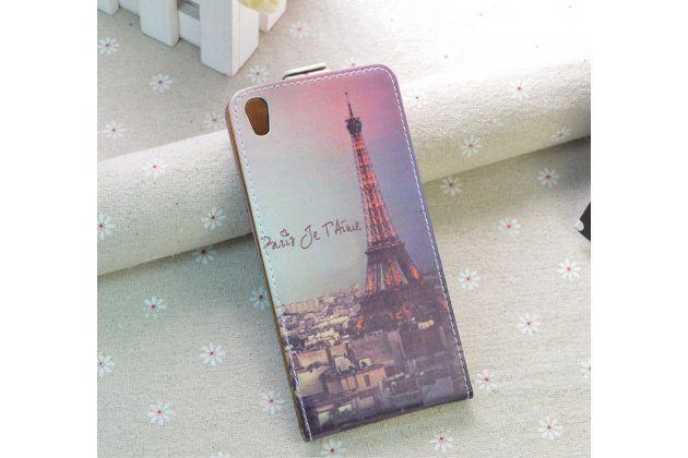 "Фирменный вертикальный откидной чехол-флип для Sony Xperia XA / XA Dual 5.0"" (F3113/ F3112 / F3115 /E6533)  ""тематика Париж"""
