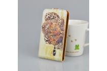 "Фирменный вертикальный откидной чехол-флип для Sony Xperia XA / XA Dual 5.0"" (F3113/ F3112 / F3115 /E6533)  ""тематика Леопард"""