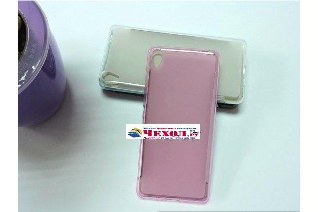 """Фирменная ультра-тонкая полимерная из мягкого качественного силикона задняя панель-чехол-накладка для Sony Xperia XA / XA Dual 5.0"""" (F3113/ F3112 / F3115 /E6533) розовая"""