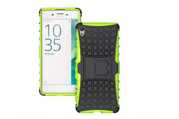 """Противоударный усиленный ударопрочный фирменный чехол-бампер-пенал для Sony Xperia XA / XA Dual 5.0"""" (F3113/ F3112 / F3115 /E6533) зеленый"""