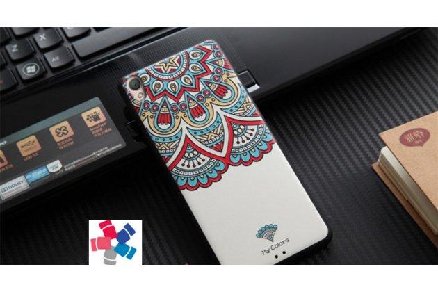 """Фирменная роскошная задняя панель-чехол-накладка из мягкого силикона с объемным  3D изображением на Sony Xperia XA / XA Dual 5.0"""" (F3113/ F3112 / F3115 /E6533) с безумно красивым рисунком  """"Тематика Стильные узоры"""""""