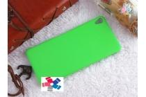 """Фирменная задняя панель-крышка-накладка из тончайшего и прочного пластика для Sony Xperia XA / XA Dual 5.0"""" (F3113/ F3112 / F3115 /E6533) зелёная"""
