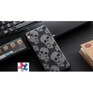 """Фирменная уникальная задняя панель-крышка-накладка из тончайшего силикона для Sony Xperia XA / XA Dual 5.0"""" (F3113/ F3112 / F3115 /E6533)  с объёмным 3D рисунком """"тематика Череп"""""""