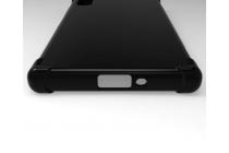 """Фирменная ультра-тонкая силиконовая задняя панель-чехол-накладка для Sony Xperia XZ Dual (F8332) 5.2"""" черная"""